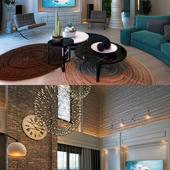 гостиная в коттедже для одинокой женщины