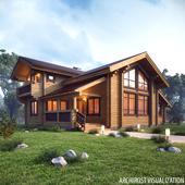 Визуализация деревянных домов для НЛК