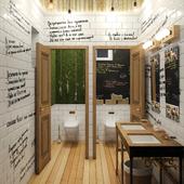Интерьер туалета для пивного бара