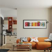 Сontemporary apartment. Bairdesign.