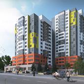 3d визуализация многоэтажки в Рязани.