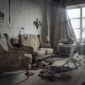 Abandoned Christmas room