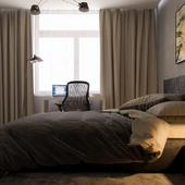 Concrete'ная спальня