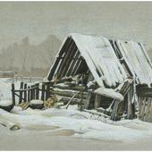 Старый деревянный сарай