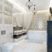 Ванная комната в доме.