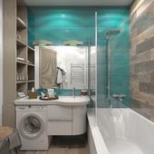 Санузел для уютной квартиры в стиле Прованс.
