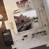Workplace of architect