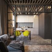 Интерьер двухкомнатной квартиры в Минске