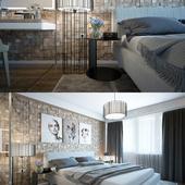 спальня с текущего проекта.