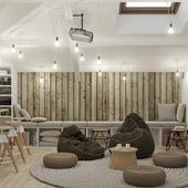 Проект интерьера чайного магазина-клуба.