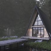 Лесной дом у озера