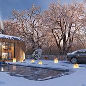 Mini dom zima