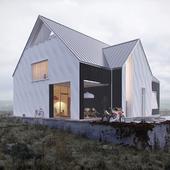 Концептуальный проект дилого дома в предгорьях Кавказских гор.