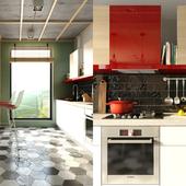 Гостиная+кухня с обеденной зоной