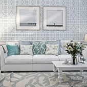 White&Blue. Living room