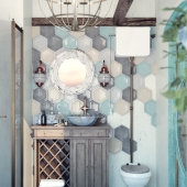 Boho Chic/bathroom interior
