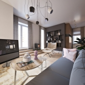 Один из вариантов проекта квартиры в Петербурге