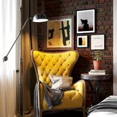 "кадры из ""Interior bedroom in Loft"""