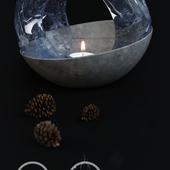 Melting lamp. Conceptual art object.