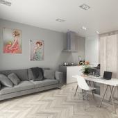 Visualization of Scandinavian Apartment