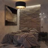 Спальня с балконом в Киеве