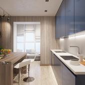 Визуализация кухни в современном стиле