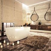 Ванная комната SaliniS.r.l. с  моделью LUCE.