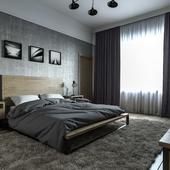 Лофтовая спальня