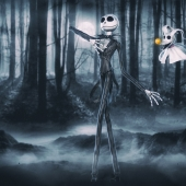 Jack Skellington with Zero