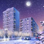 Зимние ракурсы клубного дома по Гришина 16 в Москве