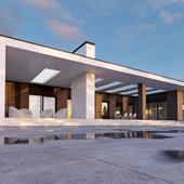 Лаконичный дом с террасой.