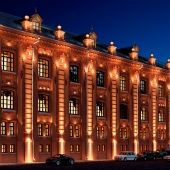 Архитектурная подсветка здания.