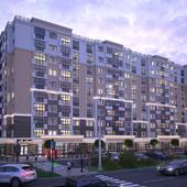 Вечерий рендер жилого комплекса в Киеве