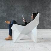 Кресло Q1 Lounge от студии ODESD2.