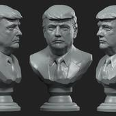 Donald Trump, bust Дональд Трамп