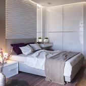 Спальня в квартире № 6 в Киеве