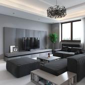 Minimalistic grey interior