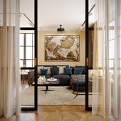 Дизайн - проект квартиры 58м2