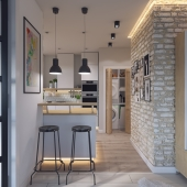 Визуализации кухни-студии с мебелю от IKEA