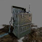 Radiostation SCR-300/BC-1000, WWII field gear, packboard.