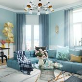 Полуденный чай в голубой комнате