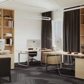 Дизайн и визуализация офиса в NewYork