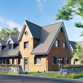 Brick houses in Germany
