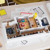 Visualization. 3D Floor Plan.