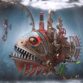 Стимпанк рыба-удильщик