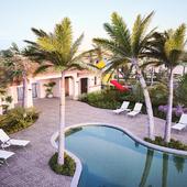 Miami evening pool