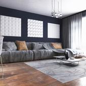 Sofa in modern style, Bonaldo
