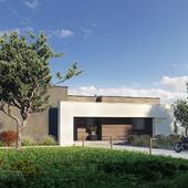 Визуализация типового проекта Загородного дома HL5