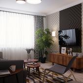 Маленькая гостиная в ретро стиле