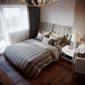 Интерьер спальни для бабушки.